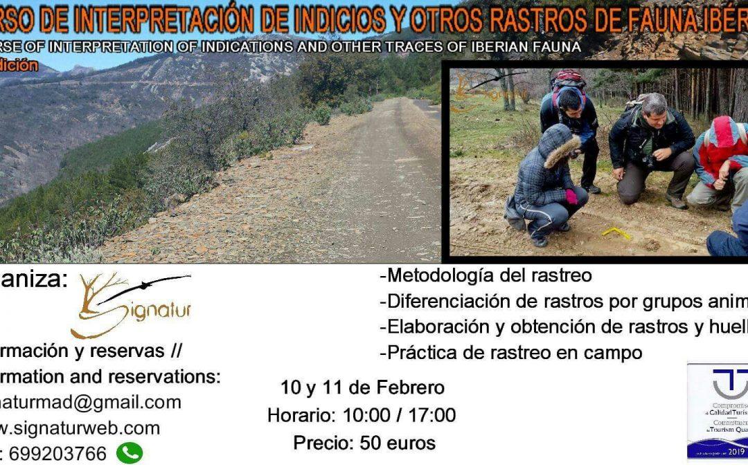 Curso de Interpretación de Indicios y Otros Rastros de Fauna Ibérica